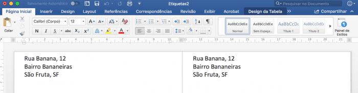 Creación de etiquetas o etiquetas en Microsoft Word