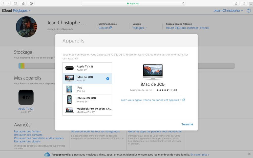 Eliminar un dispositivo de la cuenta de iCloud (iPhone, iPad, Mac, Apple TV, Apple Watch) 11