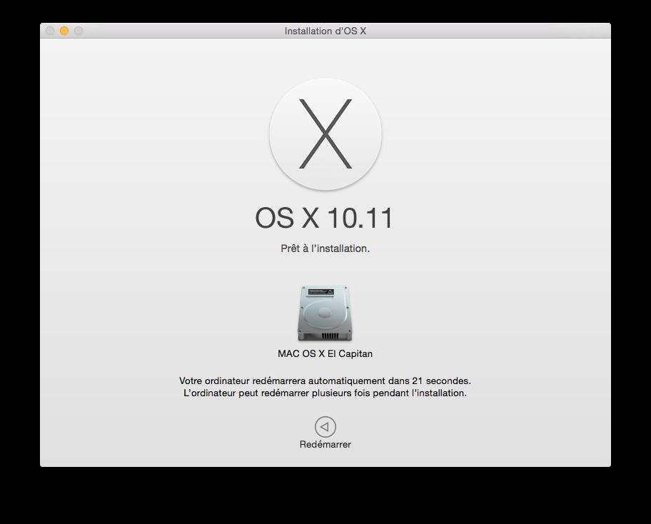 Mac OS X El Capitan (10.11) : instalación limpia 3