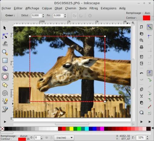 Recorte una foto o imagen con Inkscape. 4
