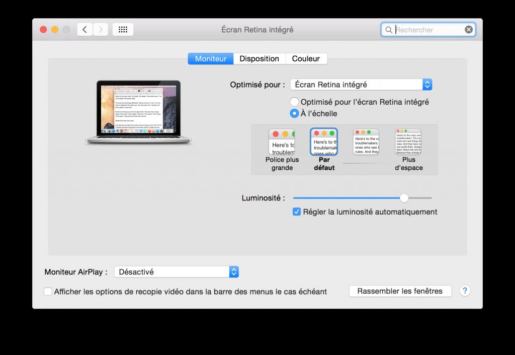 MacBook Pro Retina: cambia rápidamente la resolución de la pantalla 2