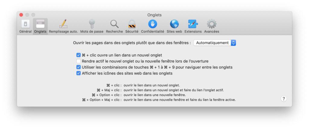 Ver los favoritos del sitio con Safari Mac 2