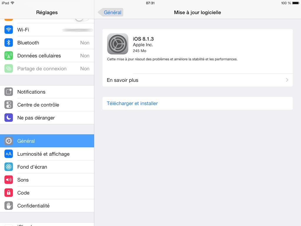 iOS 8.1.3 para iPhone, iPad, iPod: actualización 1