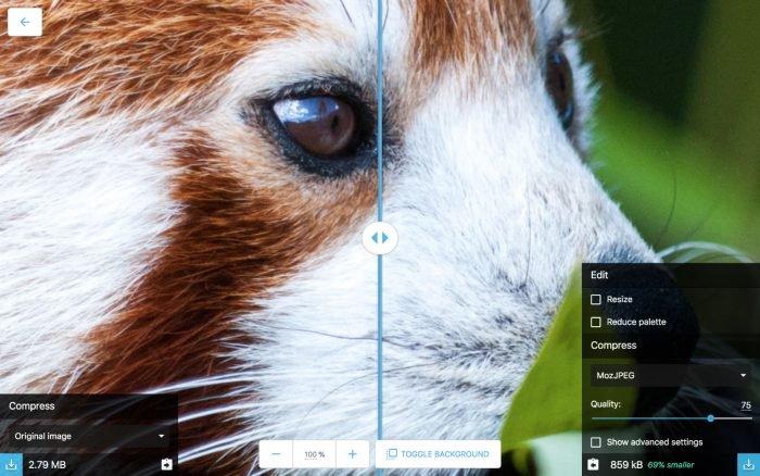 Squoosh es la nueva herramienta de Google para optimizar imágenes 2