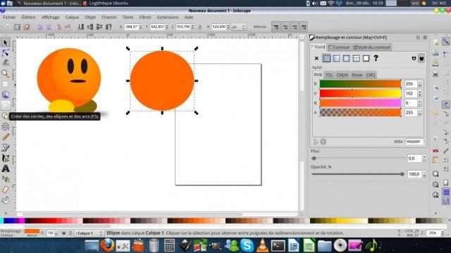 Inkscape, dibuja un carácter simple. 2