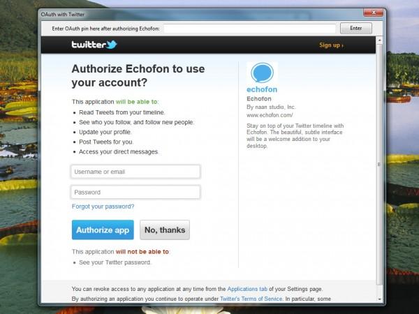 Echofon Beta: La aplicación Twitter llega a Windows 1