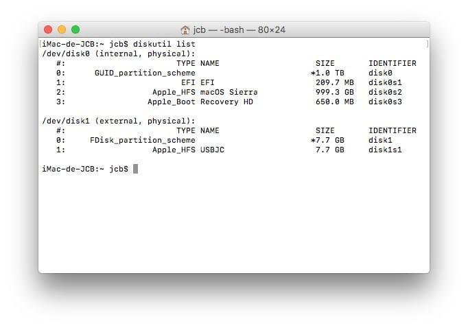 Formato en Mac con el Terminal (Sierra, El Capitan...) 1