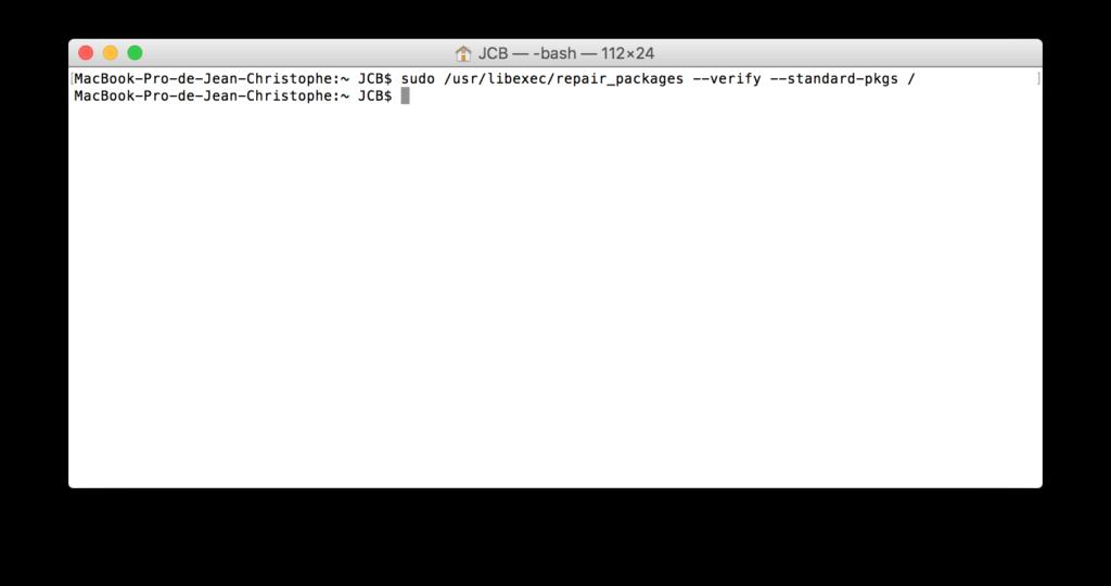 Reparar los permisos de El Capitan con el Terminal (OS X 10.11) 5