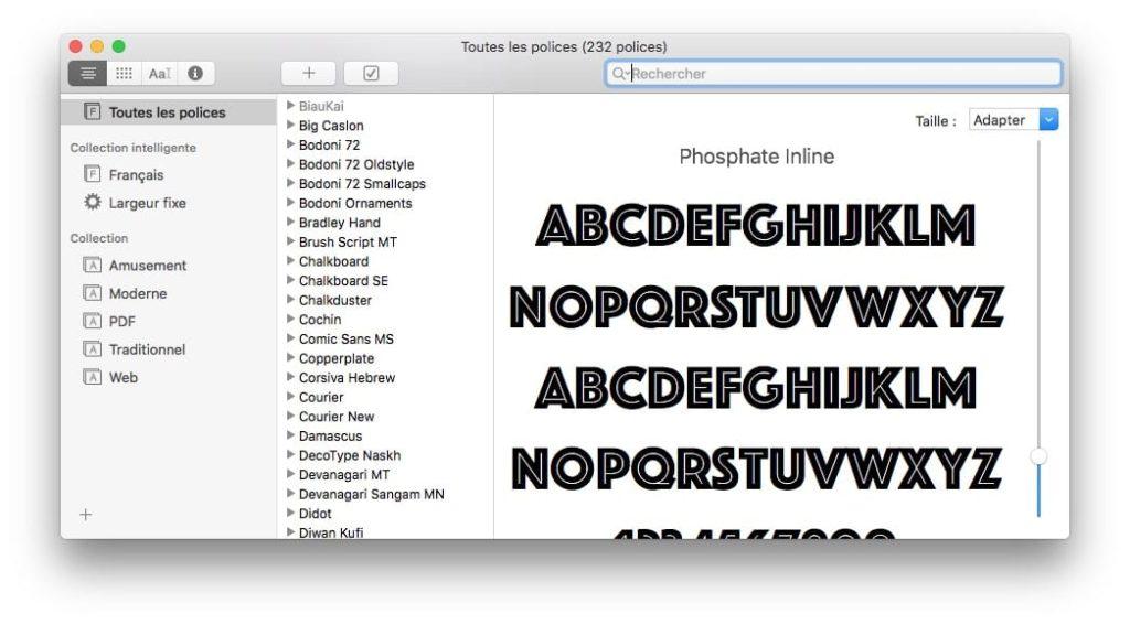 Gestiona tus fuentes en Mac: mostrar, añadir, eliminar..... 1
