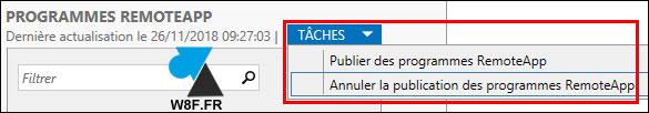 Microsoft RDS: eliminar una aplicación publicada 3