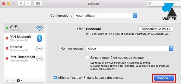 Mac: configurar un proxy de Internet 4