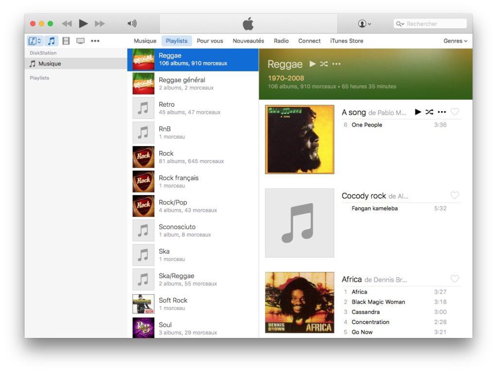 Configuración de DiskStation Mac OS X (Time Machine, iTunes