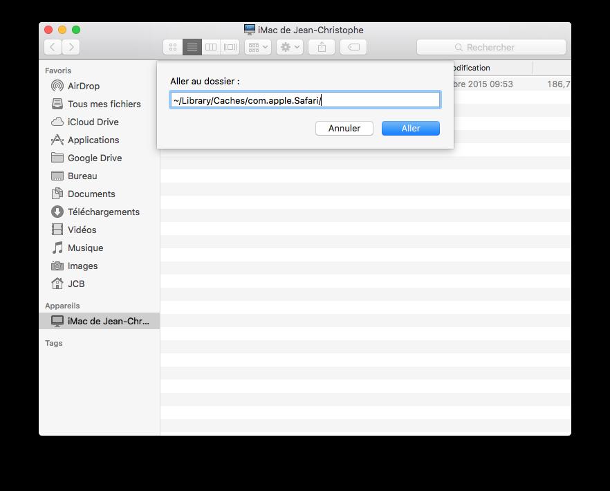 Borrar la caché de Safari Mac OS X El Capitan (10.11) 3