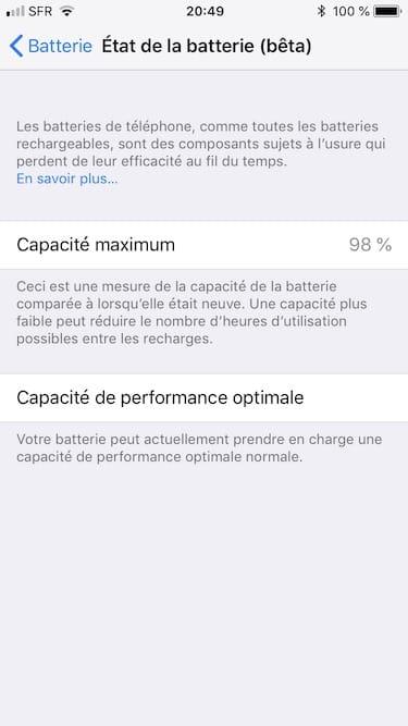Muestra la capacidad de la batería de tu iPhone en iOS 11.3
