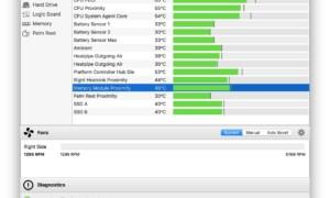 Visualización de la temperatura de tu MacBook