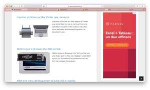 Ver los favoritos del sitio con Safari Mac