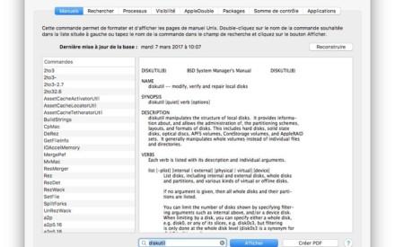 Ver todos los comandos del terminal Mac OS