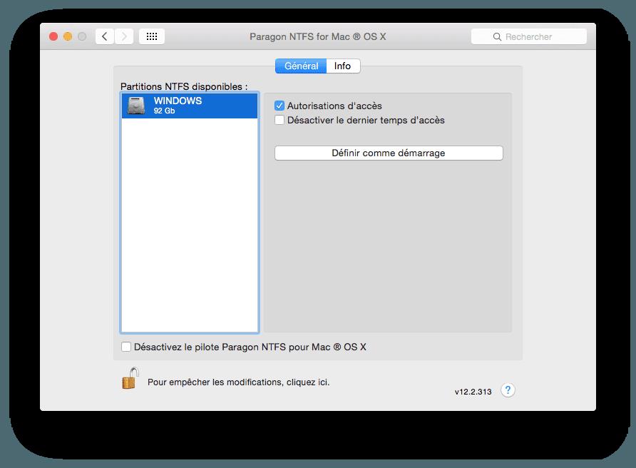 NTFS Mac OS X: escribir en una partición de Windows Boot Camp
