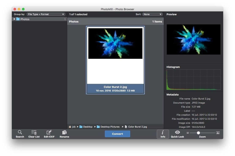 Convertir fotos en Mac (JPEG, PNG, TIFF, PSD...)
