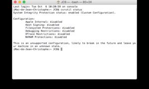 Desactivar la protección de la integridad del sistema (SIP) en OS X y macOS