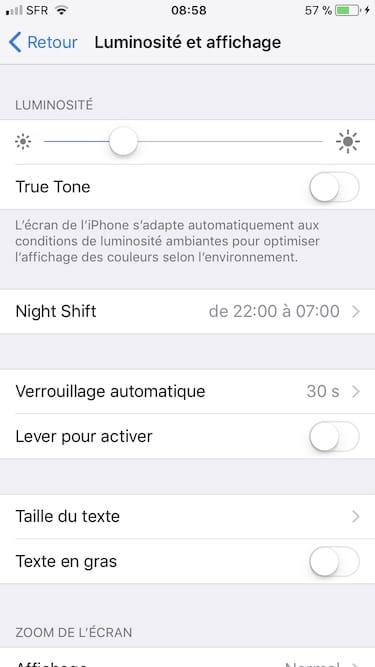 Desactivar True Tone en iPhone X, iPhone 8, iPad Pro