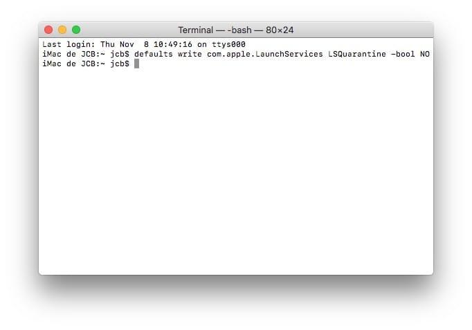 Desactivar la verificación de un archivo PKG en Mac