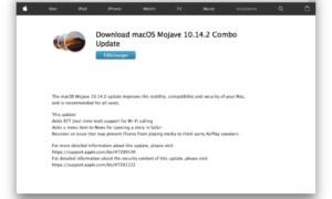 macOS Mojave 10.14.2 : Actualización de Mac (enlaces combinados)