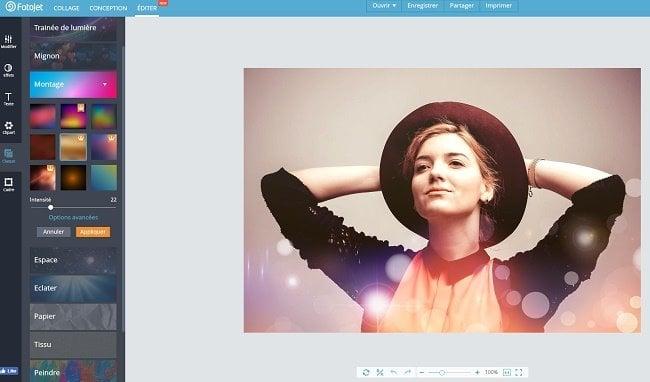 FotoJet: Un editor de fotos online gratuito