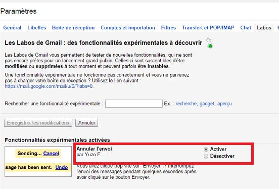 ¿Cómo cancelo un mensaje de correo electrónico enviado a Gmail?