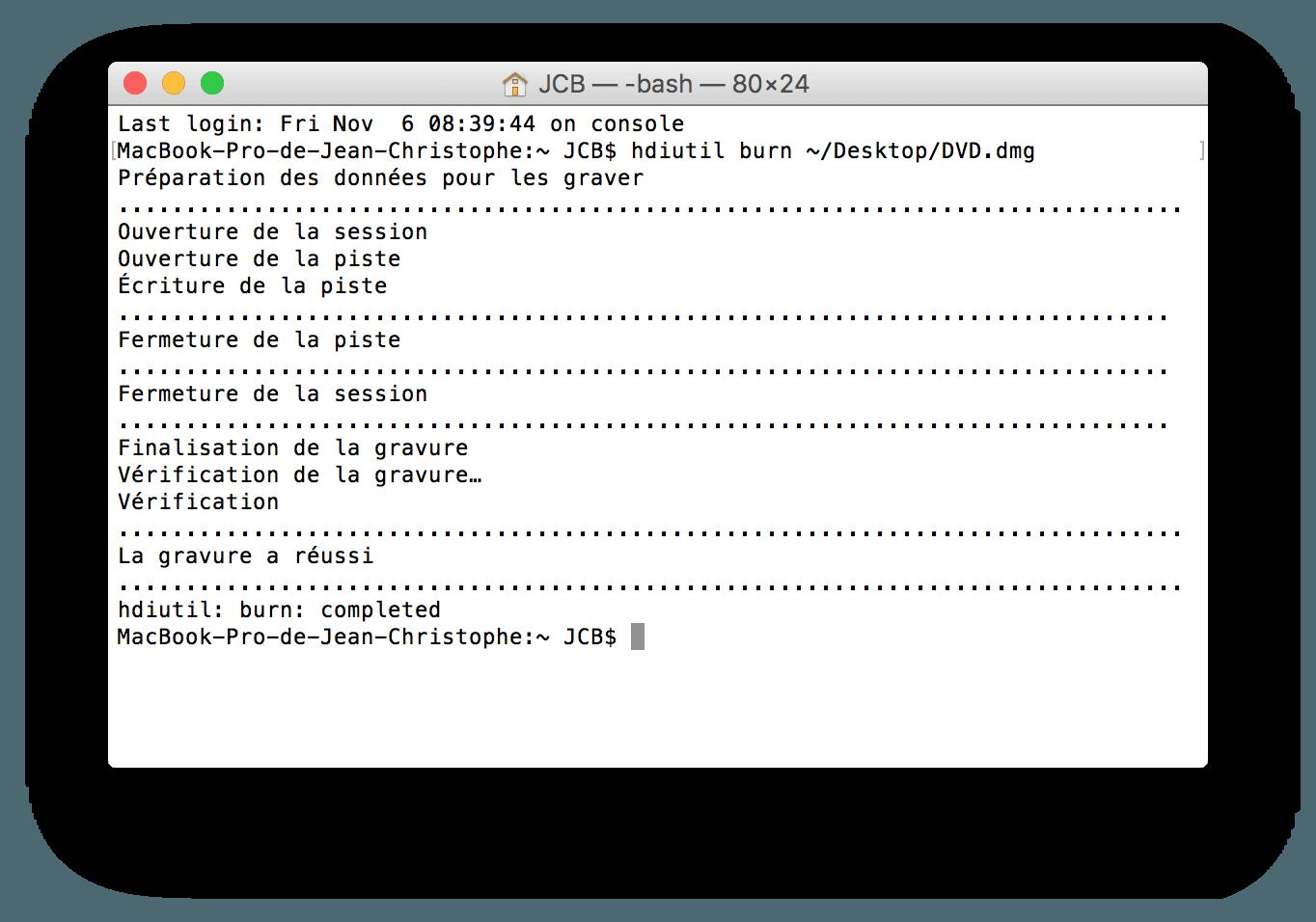 Grabar El Capitan en DVD (Mac OS X 10.11)