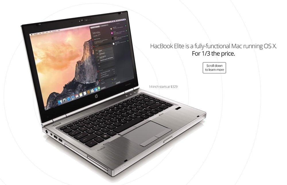 HacBook Elite: el PC bajo macOS es tres veces más barato que un MacBook