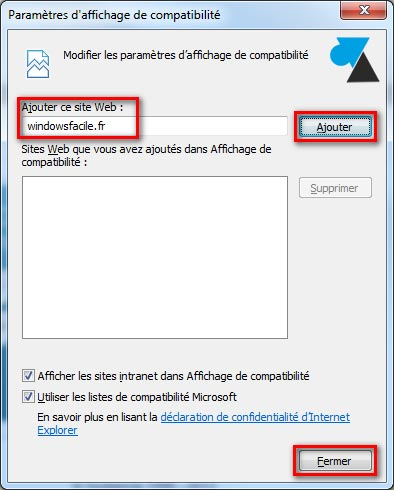 Use el modo de compatibilidad de Internet Explorer