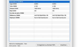 Identificar el fabricante de la RAM de su Mac (datos de SPD, velocidad...)