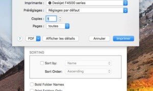 Imprimir una ventana del Finder en Mac
