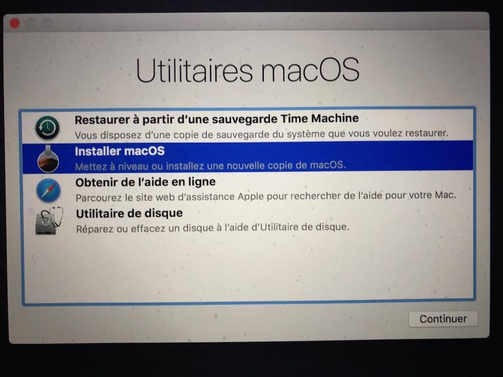 MacOS Mojave clean installation (10.14) : instrucciones de uso