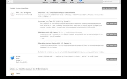 Mac OS X El Capitan 10.11.2 : actualización