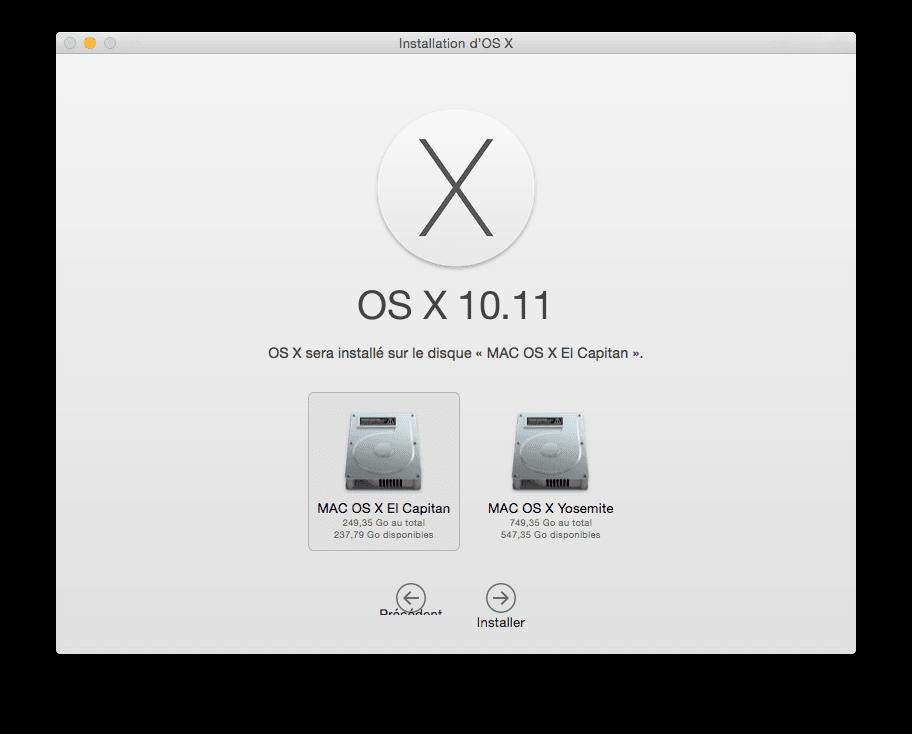 Mac OS X El Capitan (10.11) : consejos de instalación