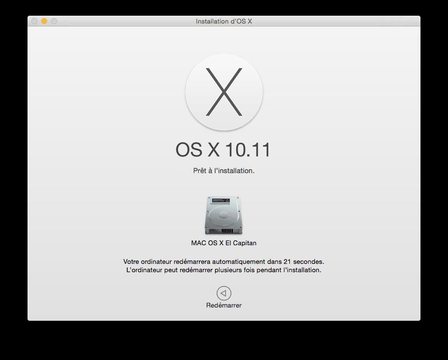Mac OS X El Capitan (10.11) : instalación limpia