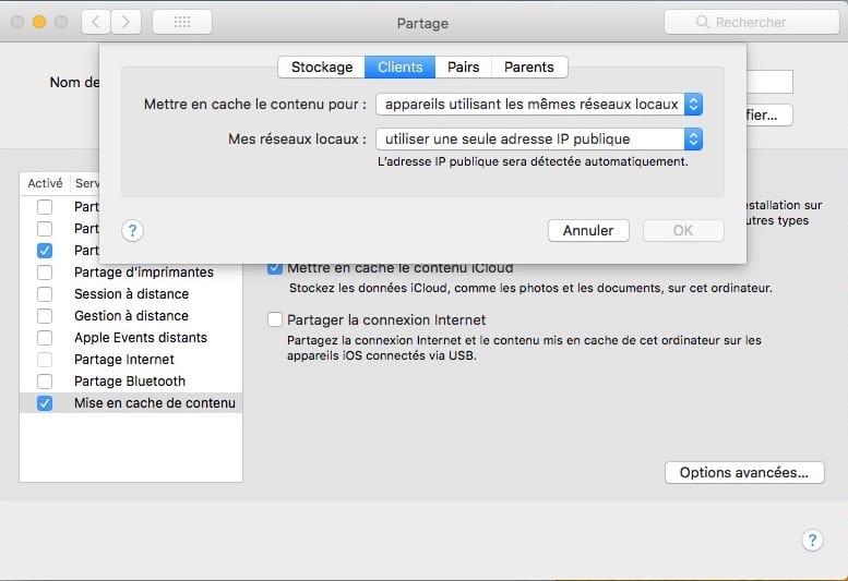 Habilitar la caché de contenido de MacOS High Sierra (10.13) : Acelerar las actualizaciones e iCloud