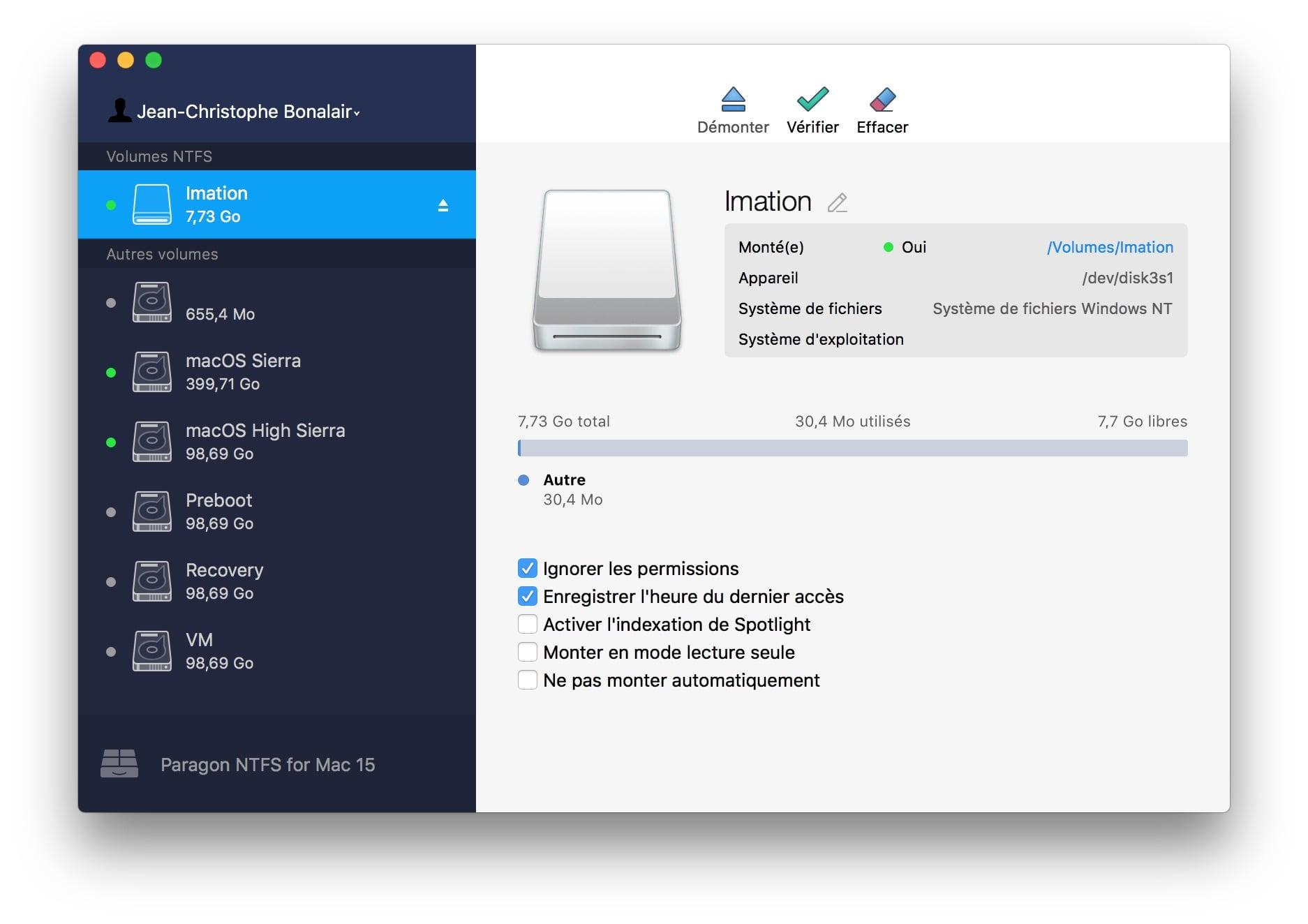 NTFS macOS High Sierra (10.13) : instrucciones de uso