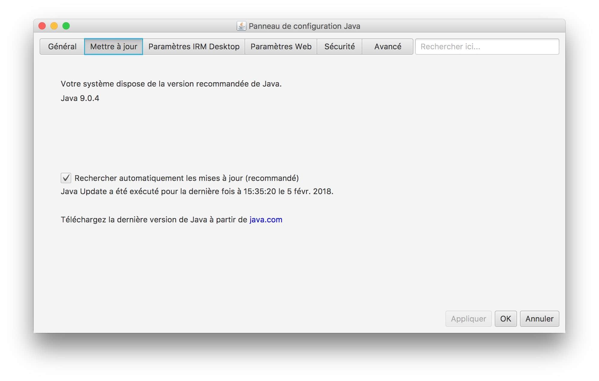 Instalación de Java macOS High Sierra (10.13) : instrucciones de uso