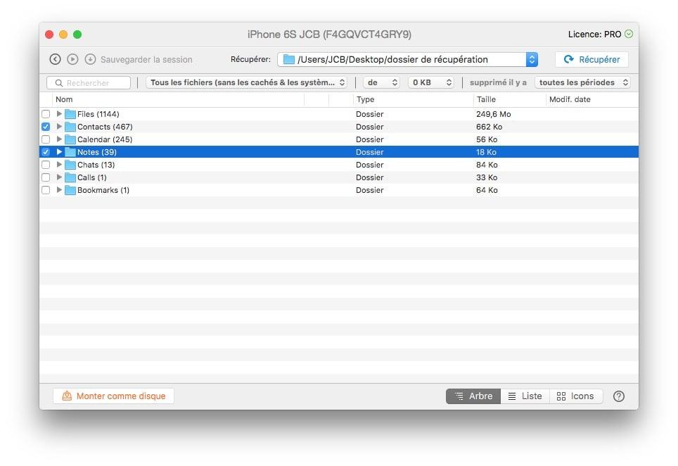 Recuperación de archivos eliminados en macOS Sierra (10.12) e iOS (10)