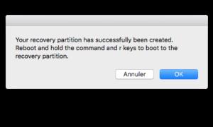 Reparación de la partición de recuperación de Mac OS X El Capitan (10.11)
