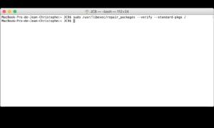 Reparar los permisos de El Capitan con el Terminal (OS X 10.11)