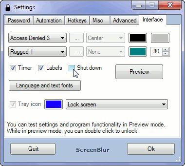 Screenblur: Acceso seguro al escritorio de Windows