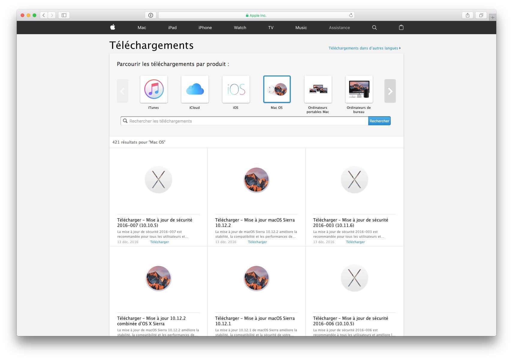 Descarga las actualizaciones de Mac directamente (Sierra, El Capitan...)