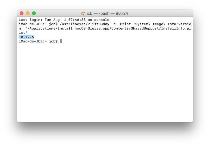 Encuentra el número de versión de tu Mac OS / OS X