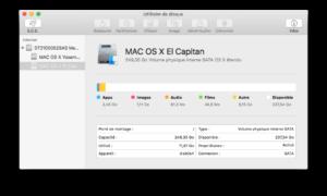 Utilidad de disco El Capitan (Mac OS X 10.11)