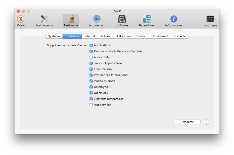 Onyx macOS Sierra (10.12) : instrucciones de uso 5