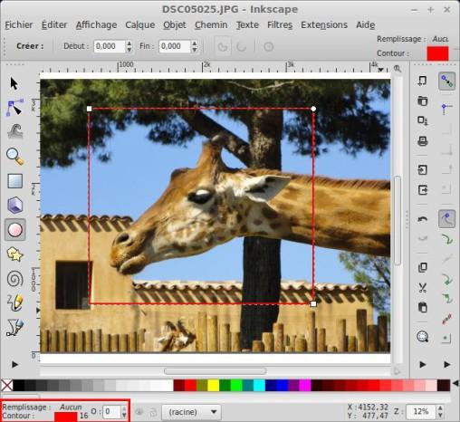 Recorte una foto o imagen con Inkscape. 5